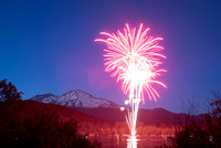 Mount Shasta by Moonlight w/Fireworks